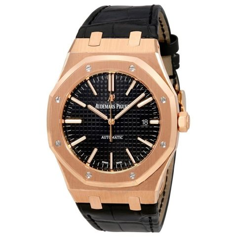 audemars-piguet-royal-oak-automatic-black-dial-black-leather-strap-mens-watch-15400orood002cr01