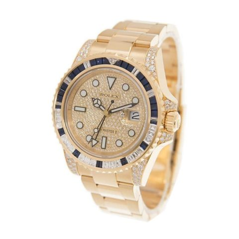 rolex-gmt-master-116758sa-ii-yellow-gold-automatic-gold-dial-replica