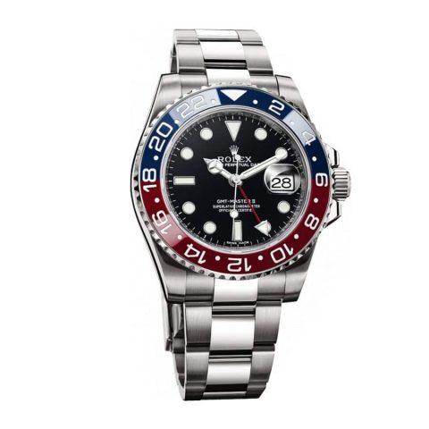 rolex-gmt-master-ii-blue-dial-red-blue-ceramic-bezel-oyster-bracelet-116719blr