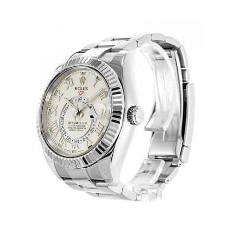 Rolex-Sky-Dweller-White-Dial-Replica-Left-1